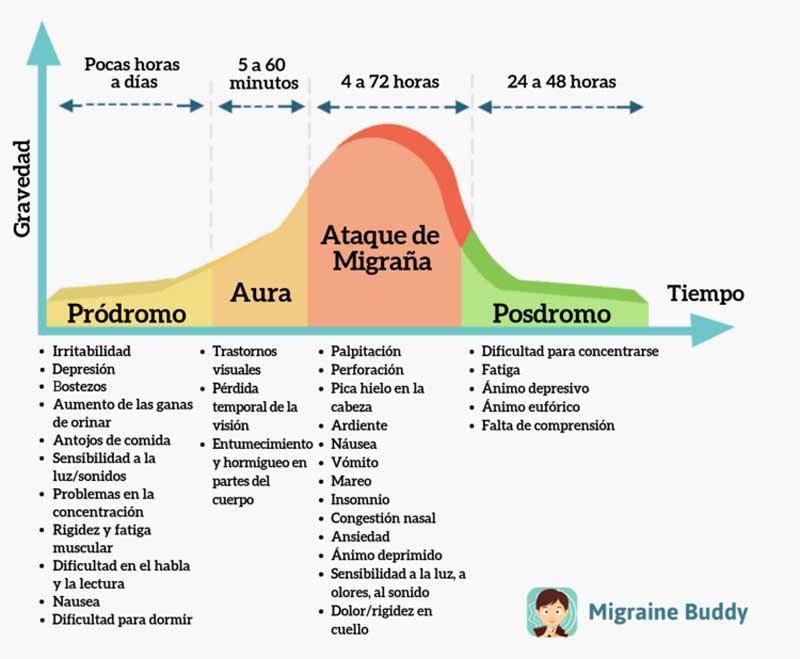 fases de la migraña