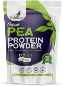 Proteína en Polvo Orgánica de Guisante sin Sabor NutriZing