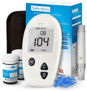 Glucosa en sangre kit de Safe Accu control de la diabetes